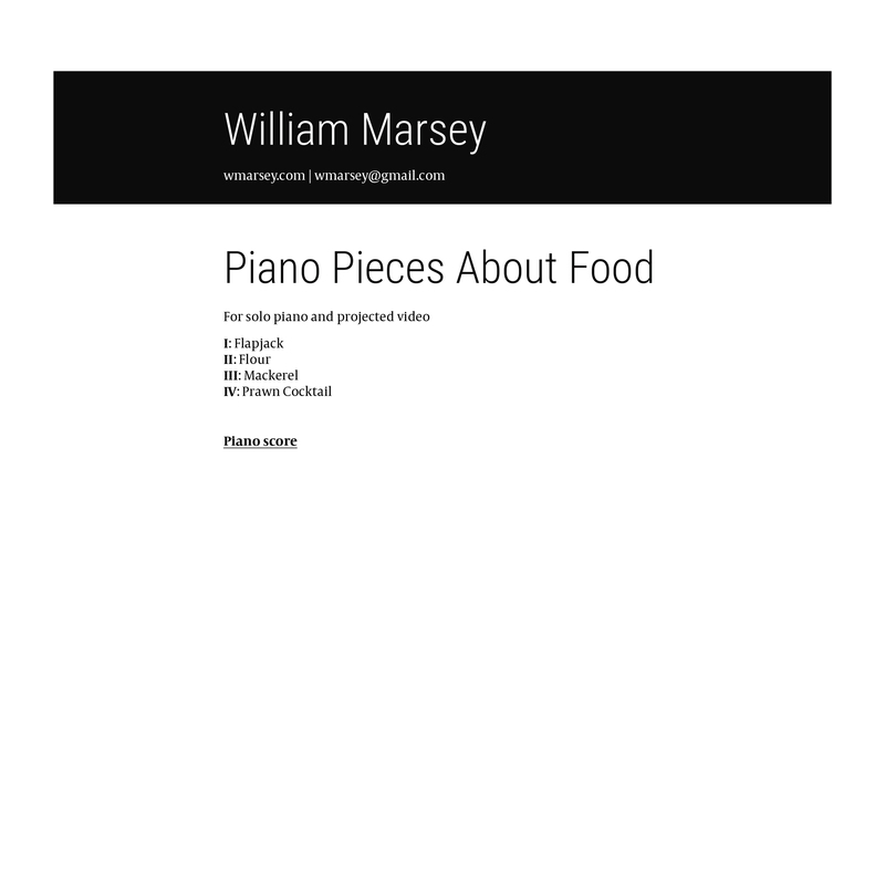 Piano pieces about food - product preview 1